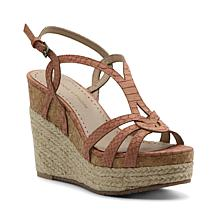 Adrienne Vittadini Clutch Strappy Platform Sandal