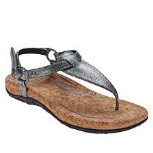 Aetrex® Emilia Orthotic Slingback Thong Sandal
