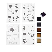 American Crafts Halloween Layering Stamps and Ink Kit