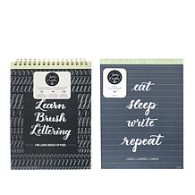 American Crafts Kelly Creates Large Brush Lettering Workbook Bundle