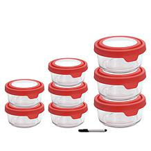 Anchor Hocking TrueSeal 16-piece Glass Food Storage Set with Pen