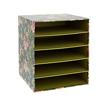 """Anna Griffin® 12"""" x 12"""" Paper Storage Box with Shelves"""