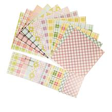 Anna Griffin® Spring Plaid Cardstock 72-piece Collection