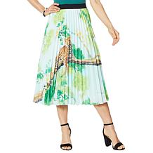 Antthony Printed Pleated Skirt