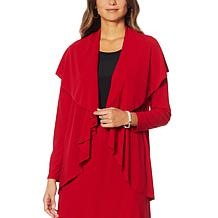 """Antthony """"Twilight Collection"""" Flowy Crepe Jacket"""