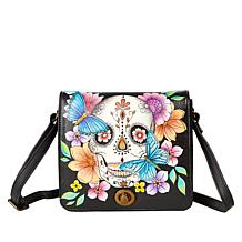 Anuschka Hand-Painted Leather Flap Front Crossbody