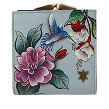 Anuschka Handpainted Leather 2-Fold Organizer Wallet with Coin Pocket