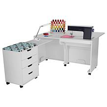 Arrow Laverne Sewing Cabinet/Shirley Storage Cabinet, Bonus D40 Lamp