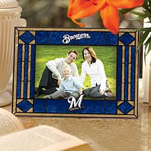 Art Glass Horizontal Picture Frame - Milwaukee Brewers