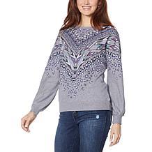 """As Is"" Democracy Aztec-Print Fashion Sweatshirt"
