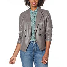 """As Is"" G by Giuliana Faux Leather Blazer"