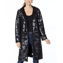 """""""As Is"""" Laurier Reversible Faux Shearling Coat with Grommets"""