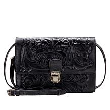 """""""As Is"""" Patricia Nash Lanza Leather Crossbody Bag"""