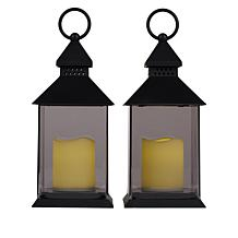 """""""As Is"""" South Street Loft Set of Two Lanterns with LED Candles"""