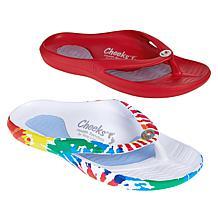 """As Is"" Tony Little Cheeks® 2-pack Toe-Post Health Sandal"