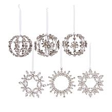 august & leo 6-pack Handmade Rhinestone Ornaments