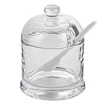 Badash Jam or Honey Glass Jar with Ceramic Spoon