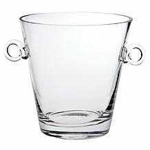 "Badash Manhattan Mouth-Blown Lead-Free 8"" Crystal Ice Bucket/Cooler"