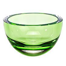"Badash Penelope Spring Green Mouth-Blown Lead-Free Crystal 6"" Bowl"