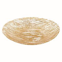 "Badash Secret Treasure Gold Handcrafted Glass Serving Bowl 15"" x 9"""