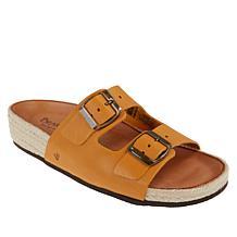 BEARPAW® Anita Leather Double Buckle Sandal