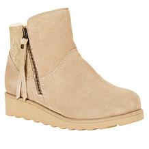 BEARPAW® Megan Suede Sheepskin Bootie with NeverWet™
