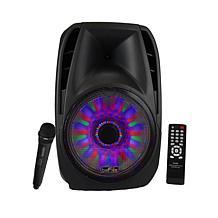 "beFree Sound 15"" Tailgate Speaker w/Reactive Lights"
