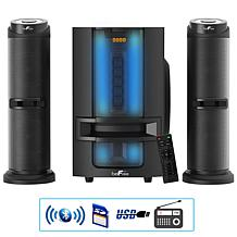 beFree Sound 2.1ch Configurable Multimedia Speaker System w/Lights