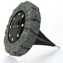 Bell + Howell Disk Lights Solar Ultra Stone 6-pack
