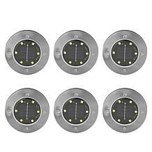 Bell + Howell Warm or White Light Solar Disk Lights 6-pack