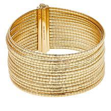 Bellezza Bronze Diamond-Cut Wide Multi-Row Bracelet
