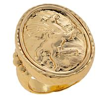 Bellezza Bronze Hammered Pegasus Ring