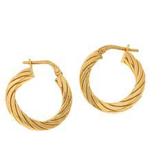Bellezza Bronze Twisted Ribbed Hoop Earrings