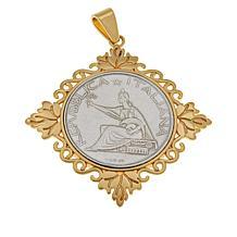 Bellezza Special Edition 500 Lira Coin Bronze Leaf Pendant