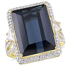 Bellini  14K Gold Black Spinel and Diamond  Cocktail Ring