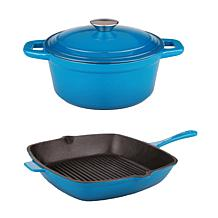 "BergHOFF® Neo 3-piece Cast Iron Dutch Oven and 11"" Fry Pan"