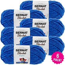 Bernat Blanket Brights Yarn 6-pack - Royal Blue