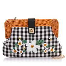 Betsey Johnson Embroidered Clutch