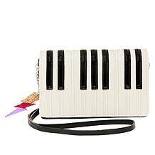 "Betsey Johnson ""Play It Again"" Piano-Key-Print Crossbody Bag"