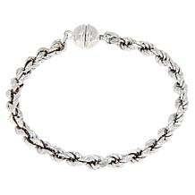 Bianca Milano Sterling Silver Rope Chain Magnetic Bracelet