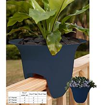Bloem Modica Gallon Deck Rail Planter