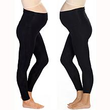 Blooming Women Maternity 7/8 Length Legging 2-pack - Black