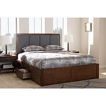 Brannigan Fabric Upholstered Storage Platform Bed