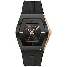 Bulova Latin GRAMMY® Black Stainless Men's Silicon Strap Watch