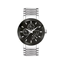 Bulova Men's Black Dial 2-Tone Stainless Bracelet Watch
