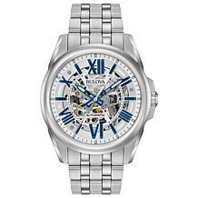 Bulova  Stainless Steel Men's Automatic Skeleton Watch