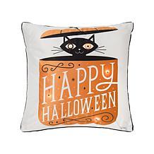 C&F Home Festive Fright Cat LED Pillow