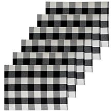 C&F Home Franklin Black Placemat Set of 6