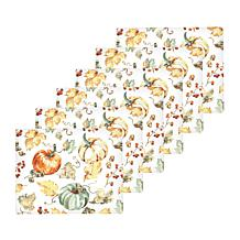 C&F Home Watercolor Pumpkin Hardboard Placemat Set of 6