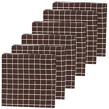 C&F Home Windowpane Cocoa Napkin Set 6